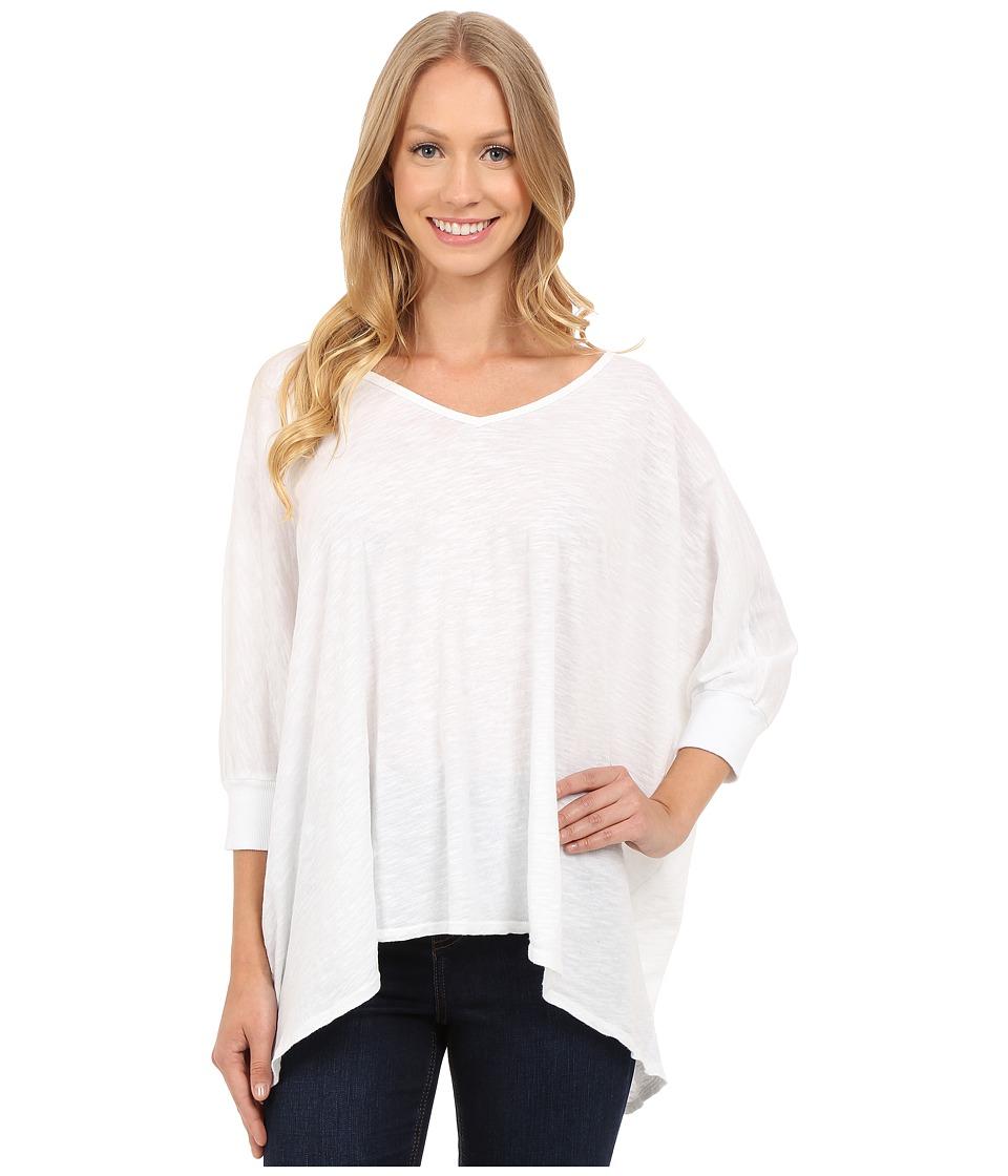 Allen Allen - Popover (White) Women's Short Sleeve Button Up