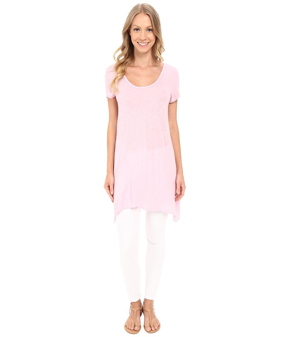 Allen Allen - S/S Slub Tunic (Pastel) Women's Blouse