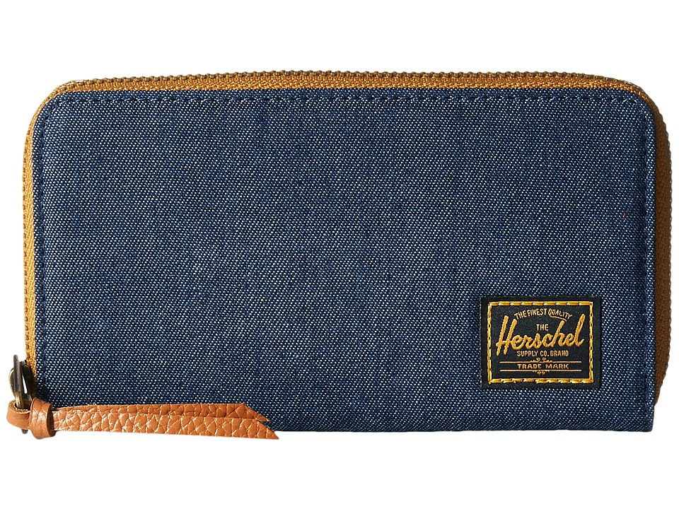 Herschel Supply Co. - Thomas with Zipper (Dark Denim) Wallet Handbags