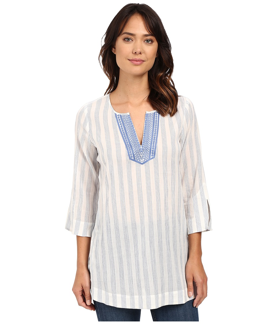 NYDJ - Cotton Embroidered Tunic (Infinity Blue) Women's Blouse