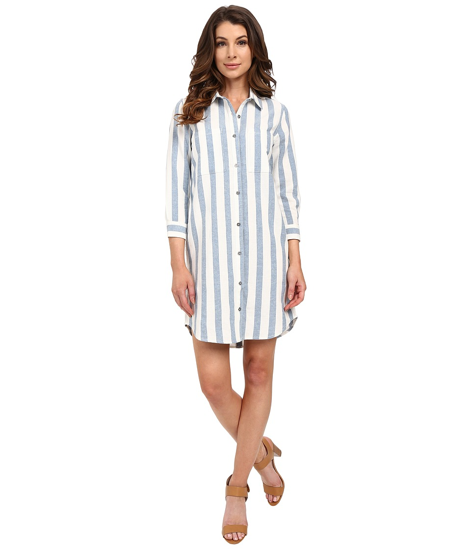 7 For All Mankind - Striped Shirtdress in Light Blue/White (Light Blue/White) Women's Dress