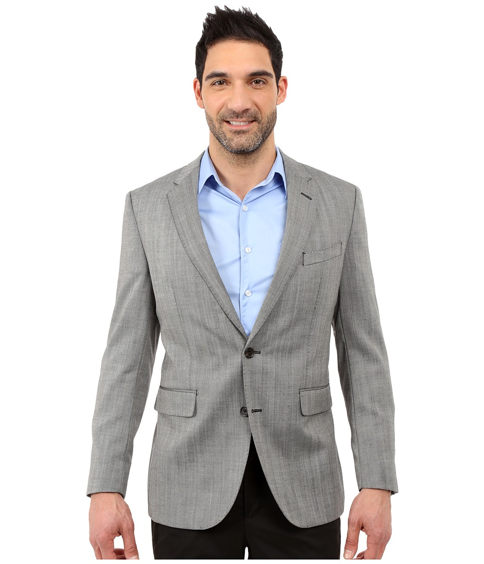 Dockers - Battery Street Sport Coat (Grey Hbone) Men's Jacket