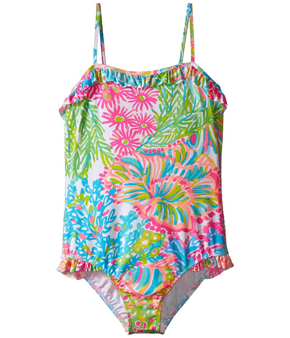 Lilly Pulitzer Kids - Cassidy Swimsuit (Toddler/Little Kids/Big Kids) (Multi Lovers Coral) Girl's Swimsuits One Piece