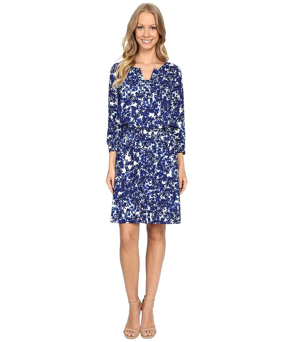 NYDJ - Alexa Pleat Back Dress (Midnight Fern Blue) Women's Dress
