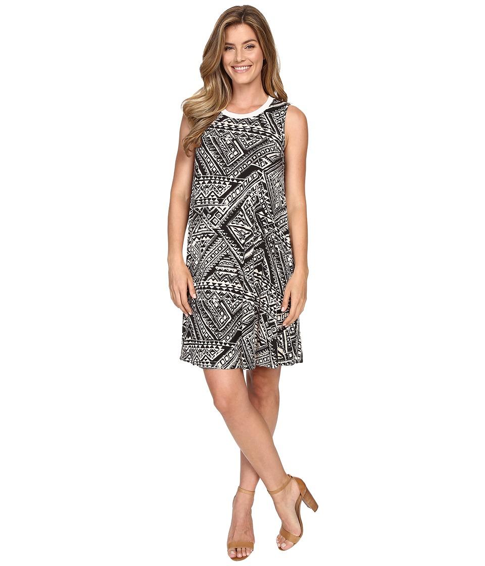 Allen Allen - Swing Tank Dress (Cream) Women's Dress