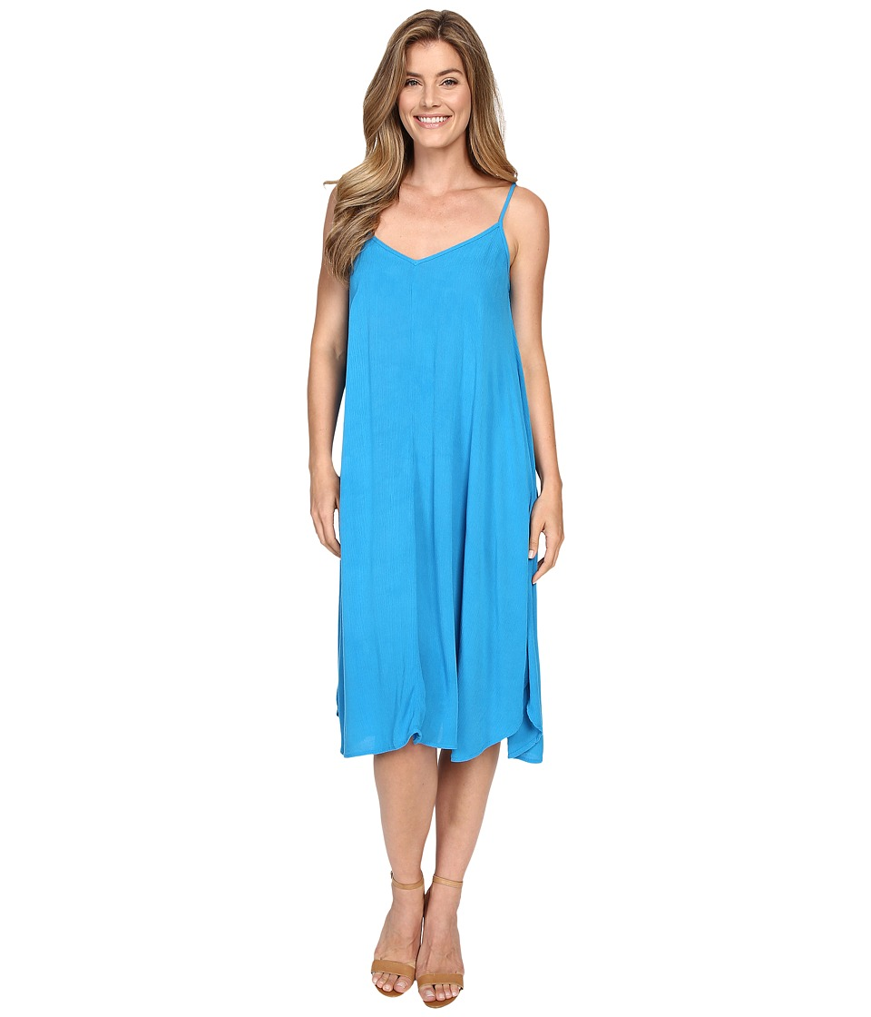 Allen Allen Vee Cami Mid-Length Dress (Blue Danube) Women