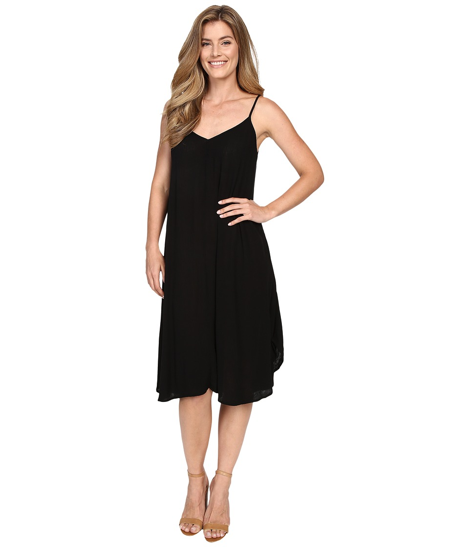 Allen Allen Vee Cami Mid-Length Dress (Black) Women