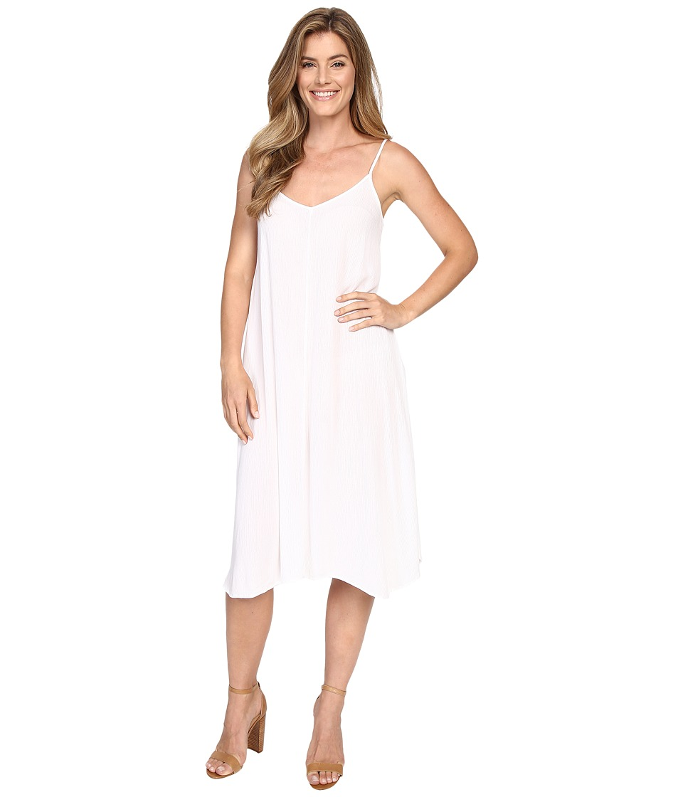 Allen Allen Vee Cami Mid-Length Dress (White) Women