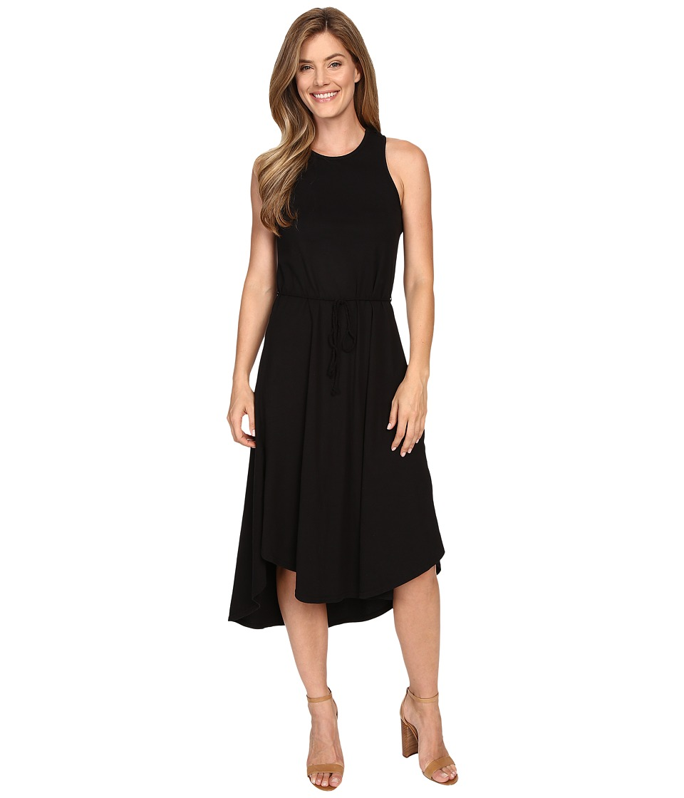 Mod-o-doc Classic Jersey Crochet Racerback Tank Dress (Black) Women