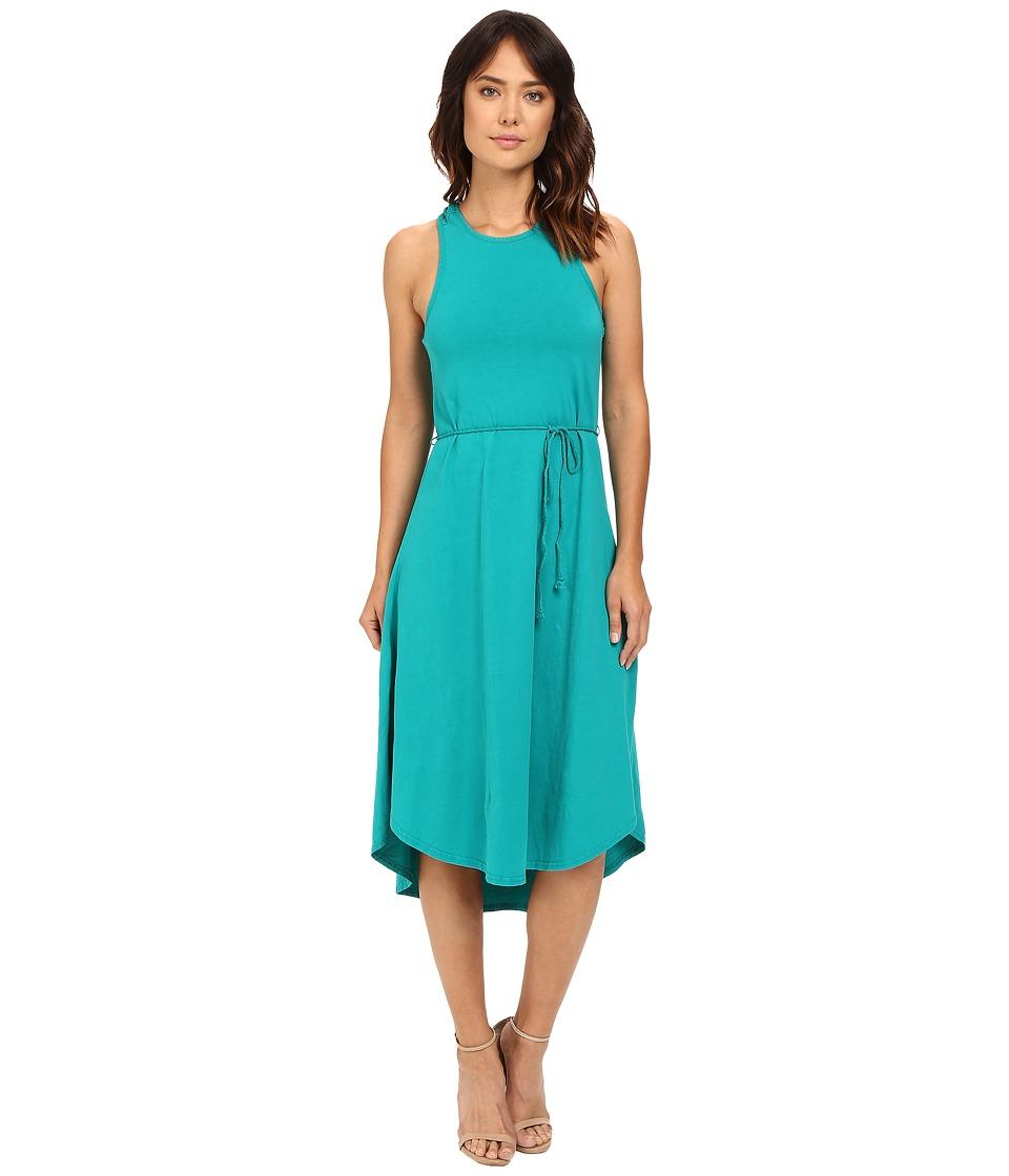Mod-o-doc - Classic Jersey Crochet Racerback Tank Dress (Dark Jade) Women's Dress