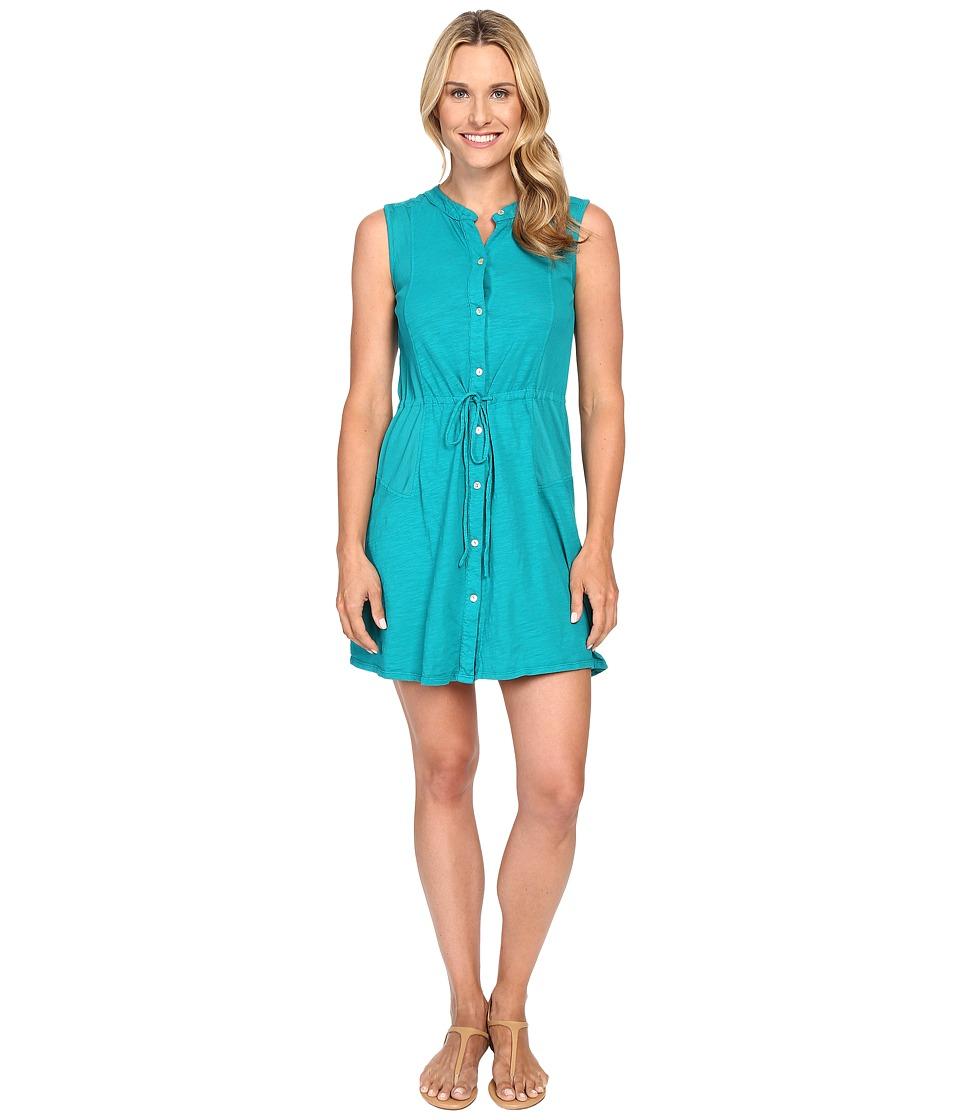 Mod-o-doc - Slub Jersey Button Front Tank Dress (Dark Jade) Women's Dress