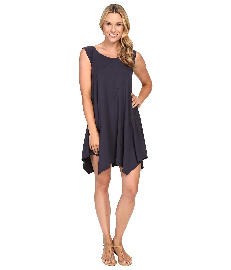 Mod-o-doc Cotton Modal Spandex Asymmetrical Seam Dress (Gibraltar) Women