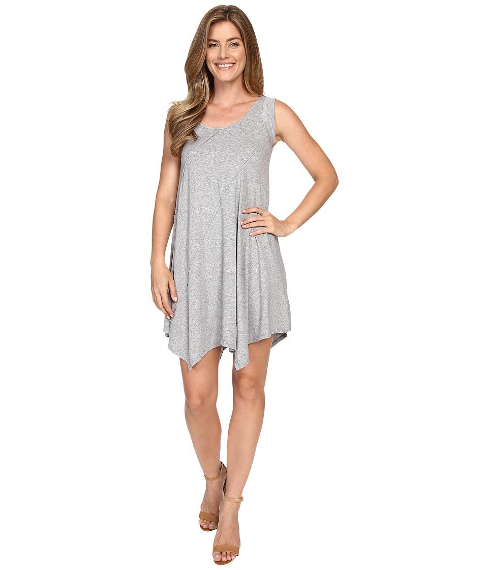 Mod-o-doc Cotton Modal Spandex Asymmetrical Seam Dress (Smoke Heather) Women