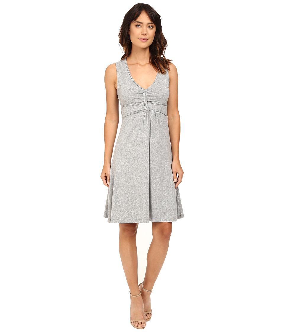 Mod-o-doc Cotton Modal Spandex Braided Trim Tank Dress (Smoke Heather) Women