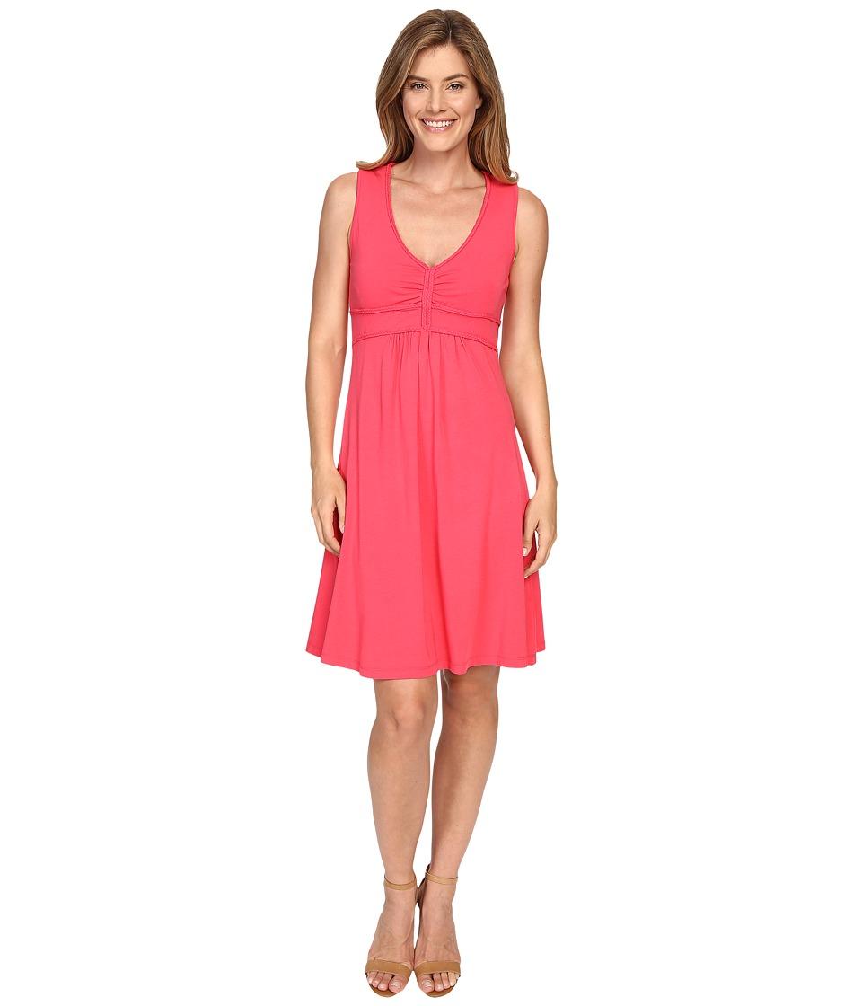 Mod-o-doc - Cotton Modal Spandex Braided Trim Tank Dress (Dragonfruit) Women's Dress