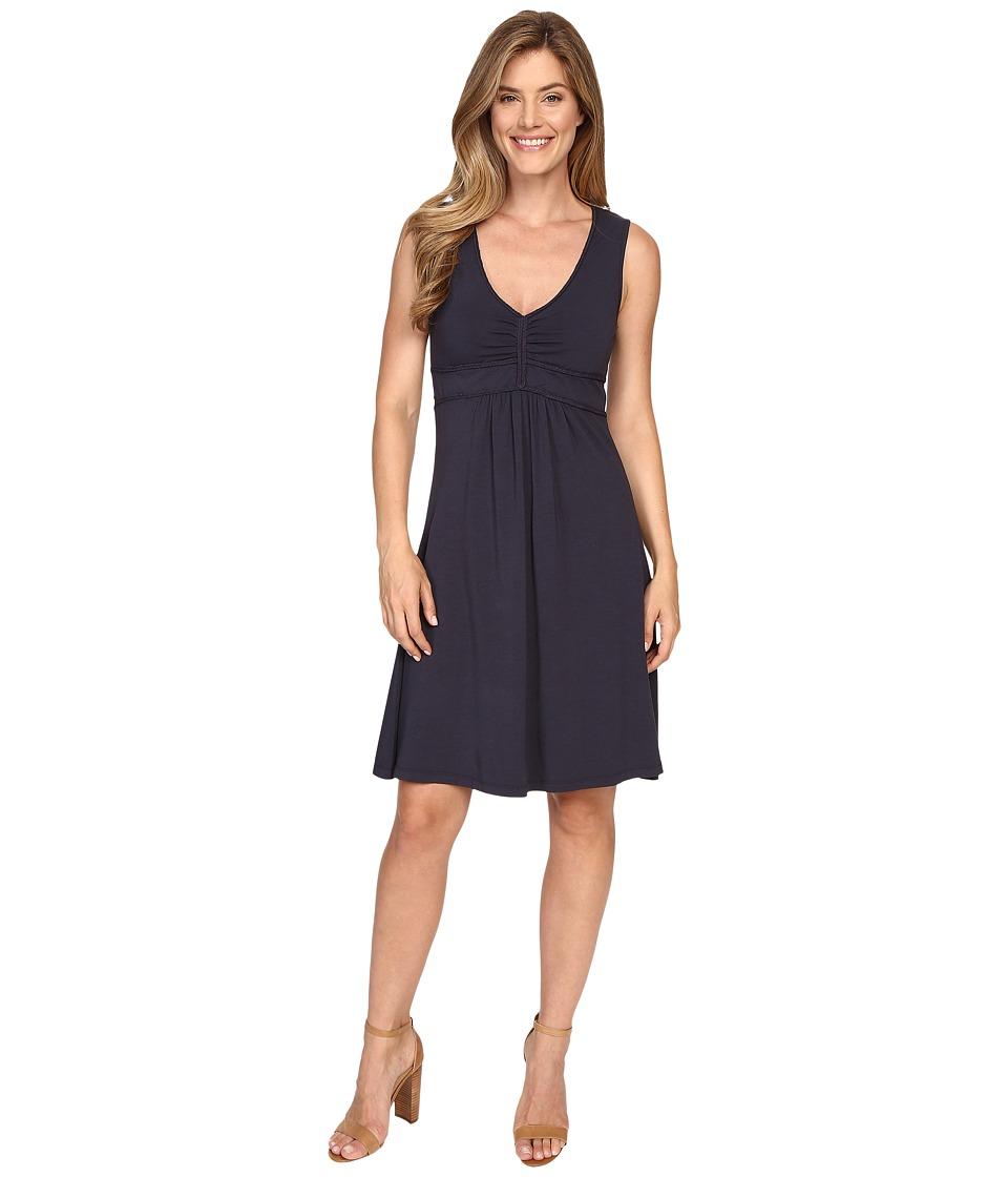 Mod-o-doc - Cotton Modal Spandex Braided Trim Tank Dress (Gibraltar) Women's Dress