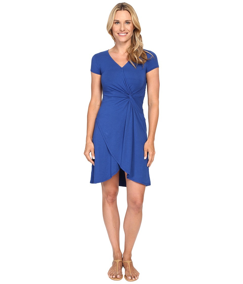 Mod-o-doc - Cotton Modal Spandex Faux Wrap Twist Front Dress (Sailor) Women's Dress