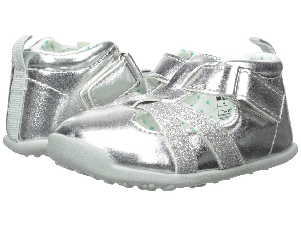 Carters - Clio-P4 (Toddler) (Silver/Teal) Girl's Shoes