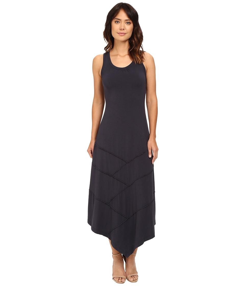 Mod-o-doc Cotton Modal Spandex Seamed Hanky Hem Maxi Dress (Gibraltar) Women