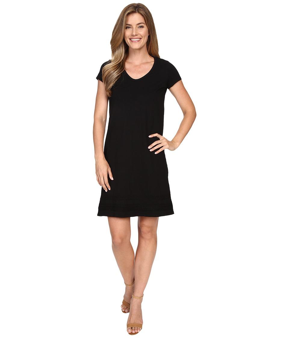 Mod-o-doc Heavier Slub Jersey Short Sleeve Dress (Black) Women