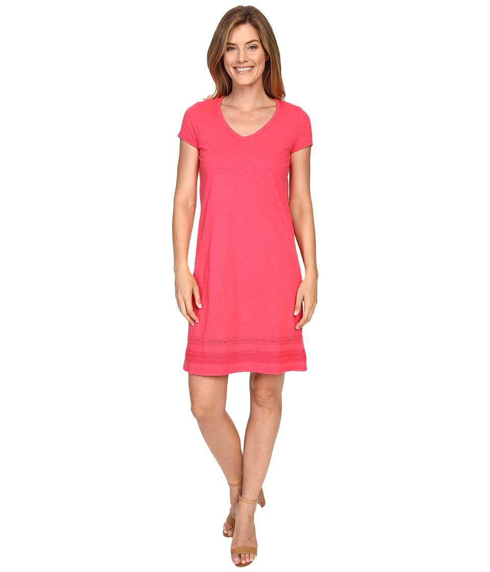 Mod-o-doc - Heavier Slub Jersey Short Sleeve Dress (Dragonfruit) Women's Dress