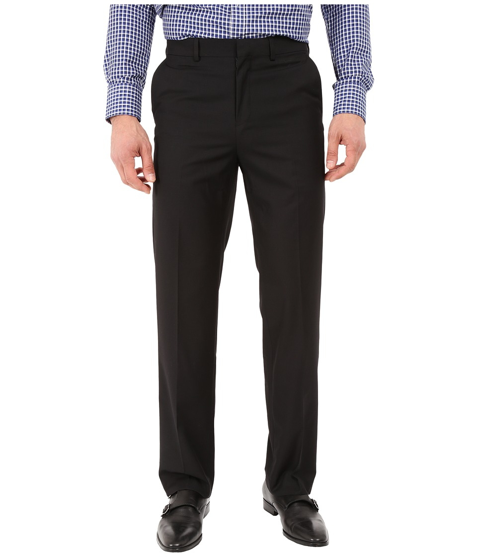 Dockers - Flat Front Straight Fit Dress Pants (Black) Men's Casual Pants