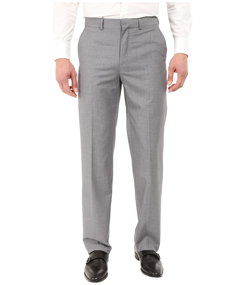 Dockers - Flat Front Straight Fit Dress Pants (Light Grey) Men's Casual Pants