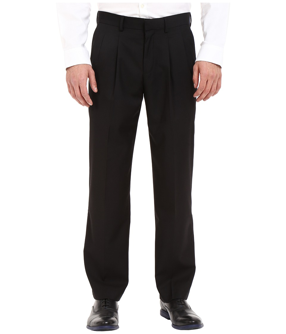 Dockers - Pleated Dress Pants (Black) Men's Casual Pants