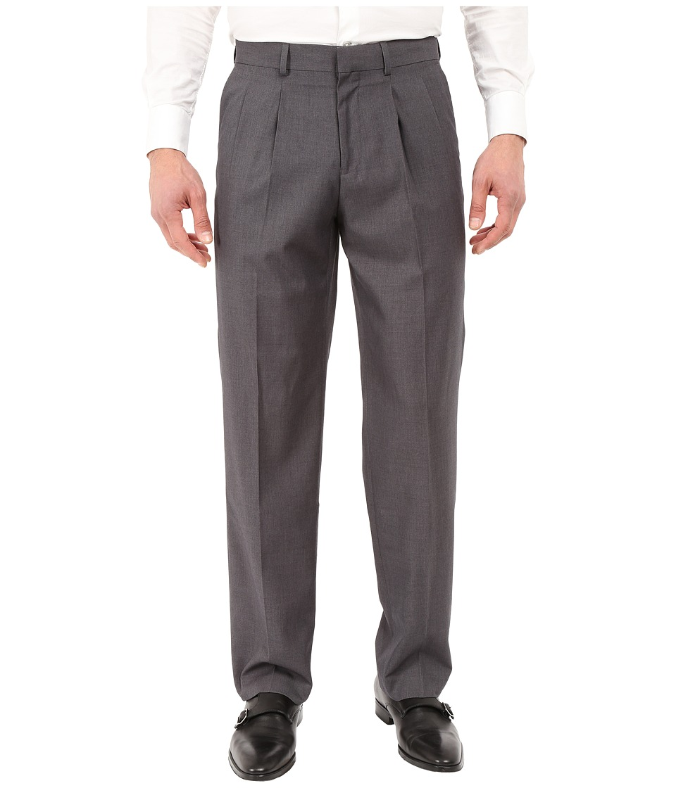 Dockers - Pleated Dress Pants (Medium Grey) Men's Casual Pants