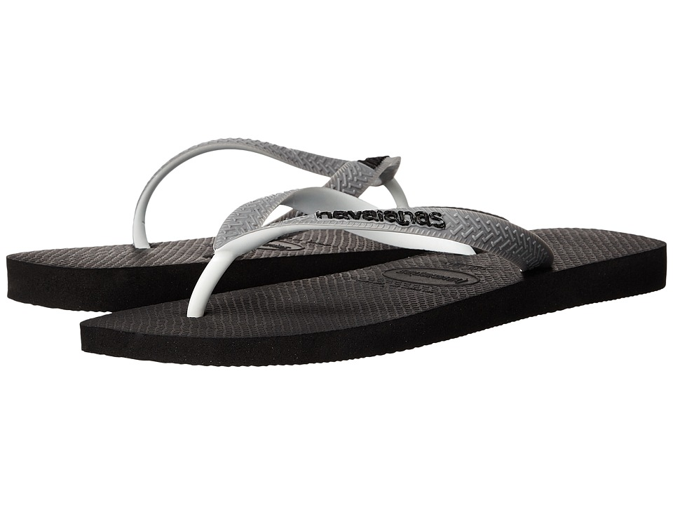 Havaianas - Top Mix Flip Flops (Black/Steel Grey) Men's Sandals