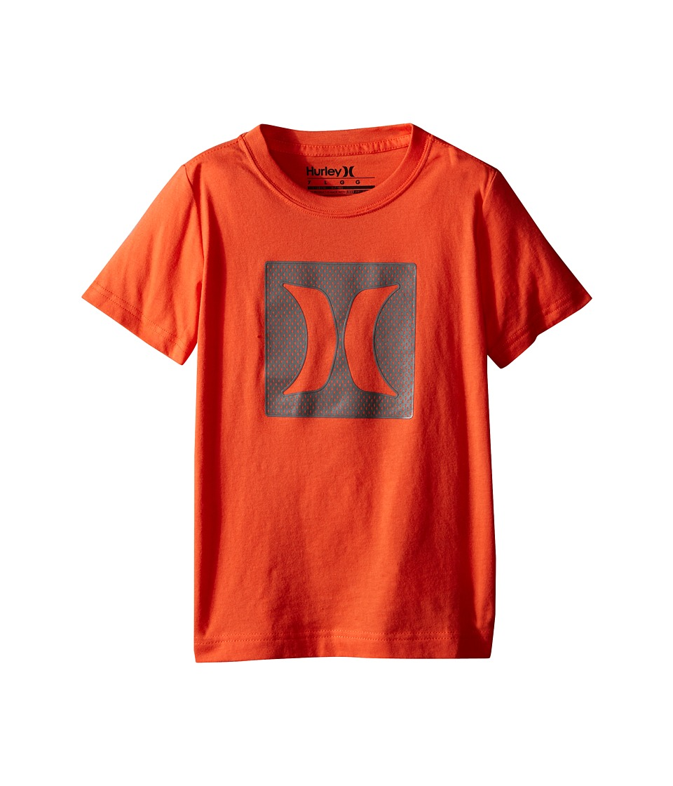 Hurley Kids - Logo Mesh Short Sleeve Tee (Little Kids) (Turf Orange) Boy's Short Sleeve Pullover