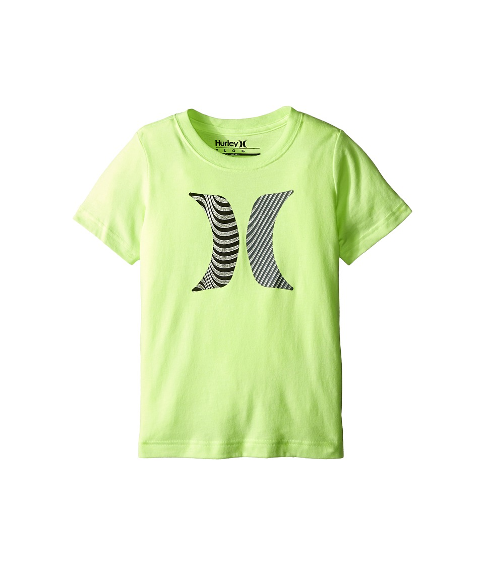 Hurley Kids - Icon Flow Short Sleeve Tee (Little Kids) (Ghost Green Heather) Boy's T Shirt