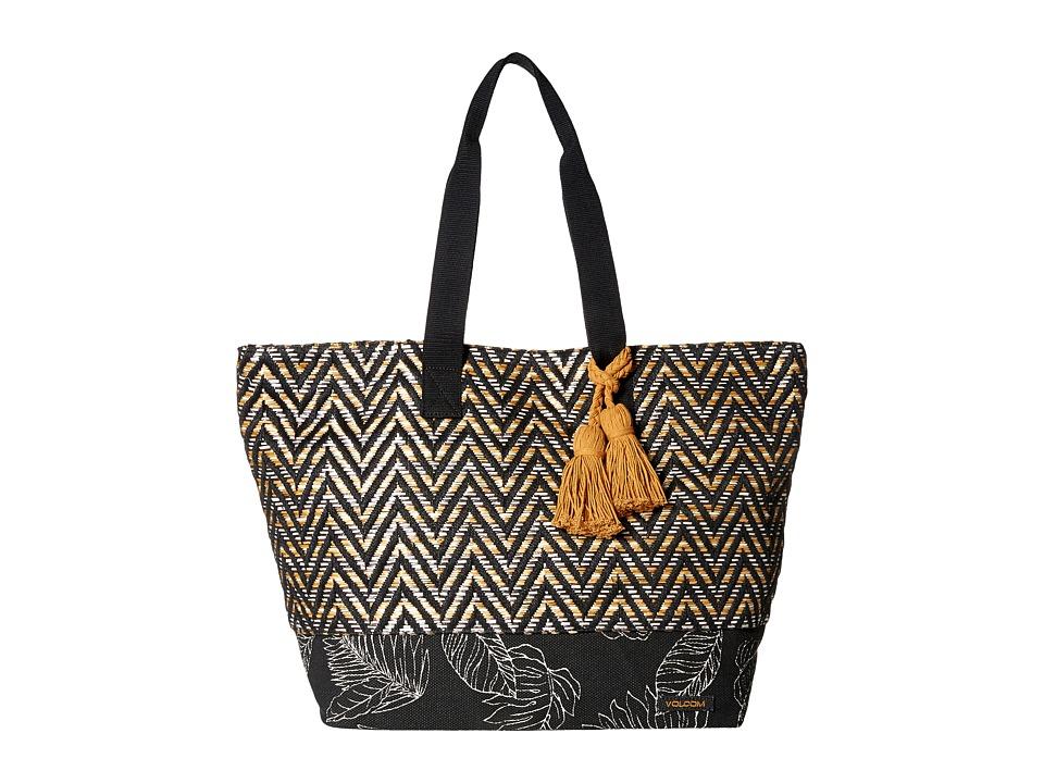 Volcom - Hideaway Tote (Black) Tote Handbags
