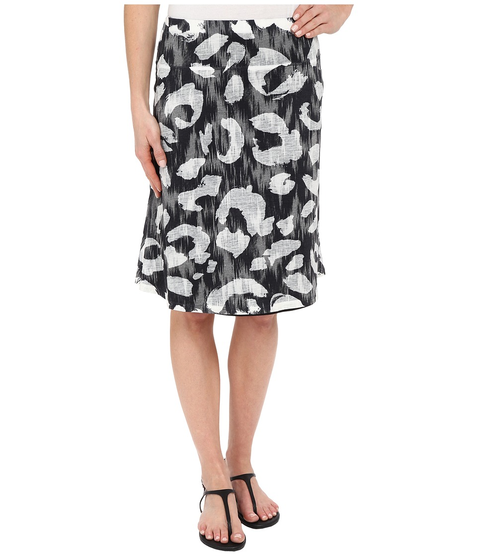 Nally & Millie - Black and White Reversible Burnout Skirt (Multi) Women's Skirt