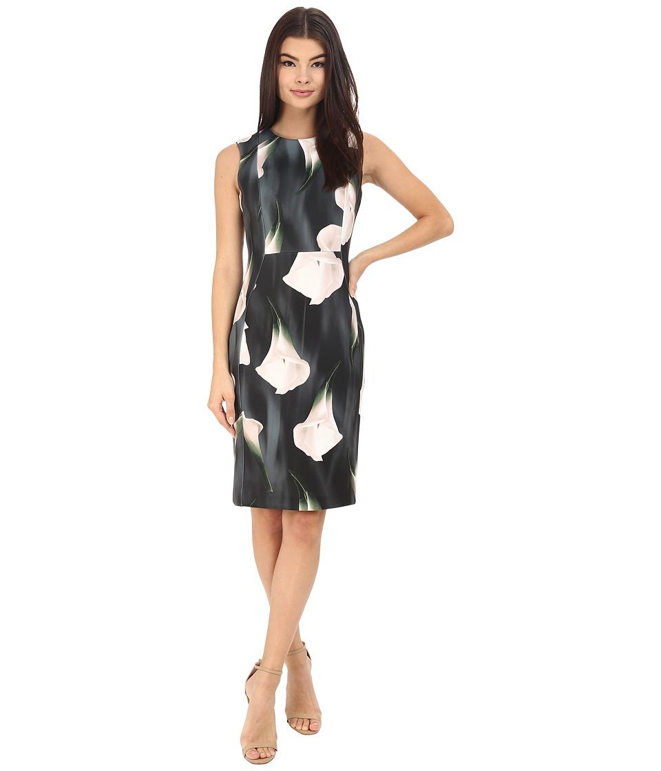 Calvin Klein Floral Sheath CD6M7A00 (Black Multi) Women