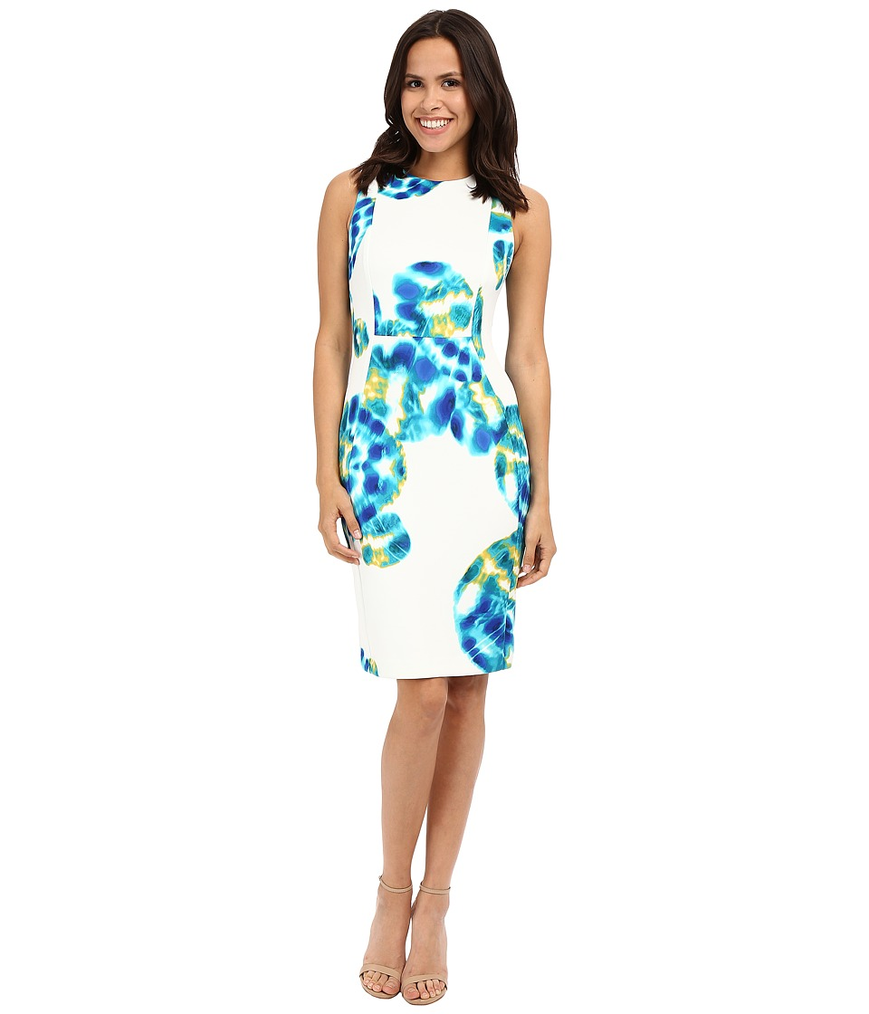 Calvin Klein - Multi Floral Sheath CD6MRA00 (Atlantis Multi) Women's Dress