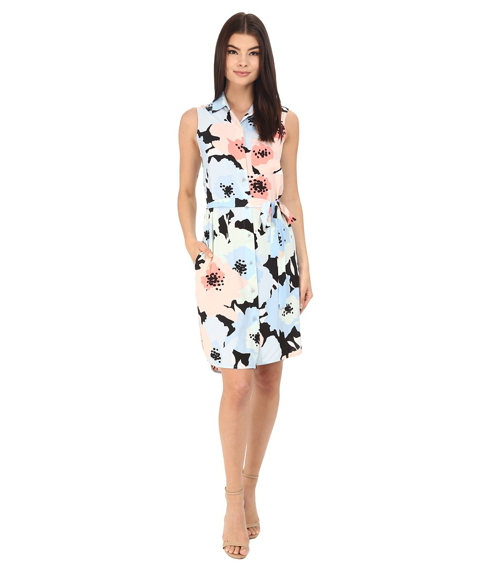 Calvin Klein - Floral Shirtdress CD6EZV4X (Serene Multi) Women's Dress