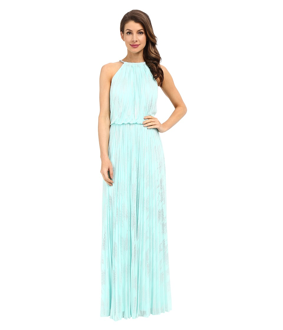 Calvin Klein - Halter Neck Gown CD6B1U3N (Mint) Women's Dress