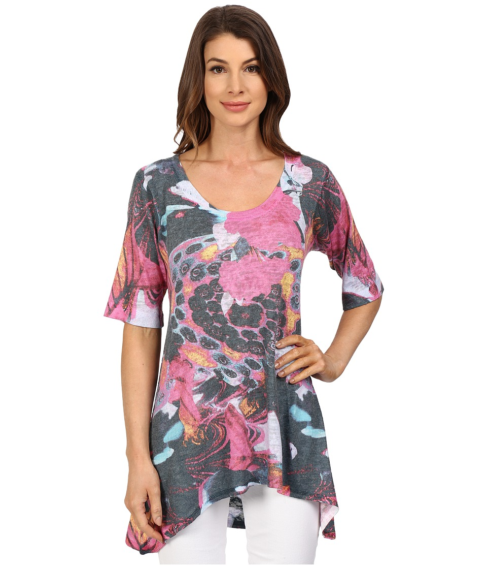 Nally & Millie - Big Floral Tunic (Multi) Women's Blouse
