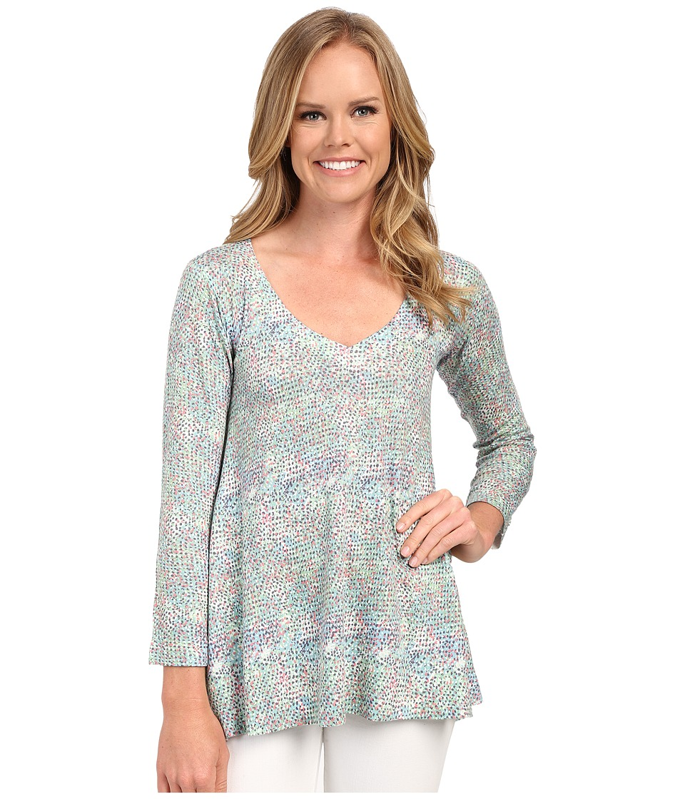 Nally & Millie - Ditsy Tunic (Green) Women's Blouse
