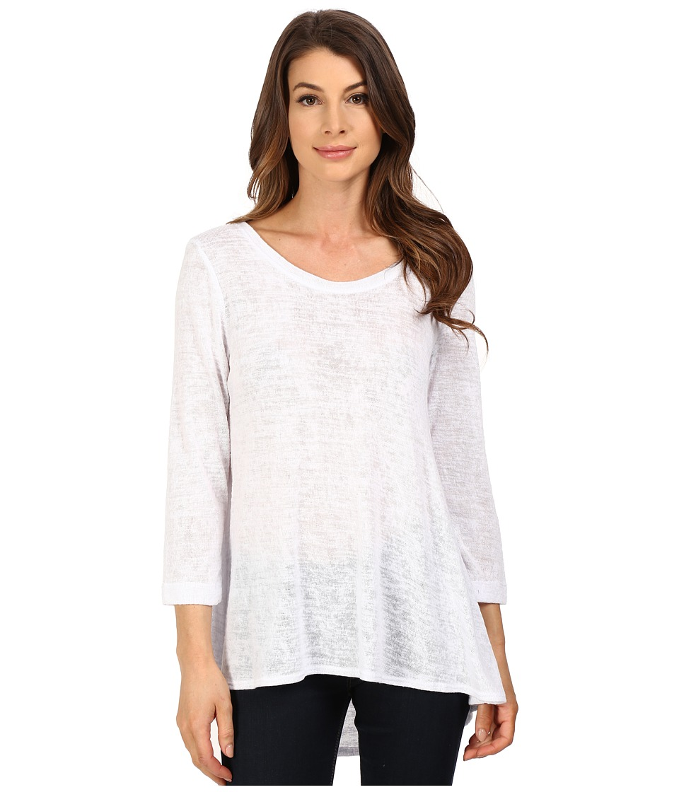Nally & Millie - Pleated Back Tunic (White) Women's Blouse