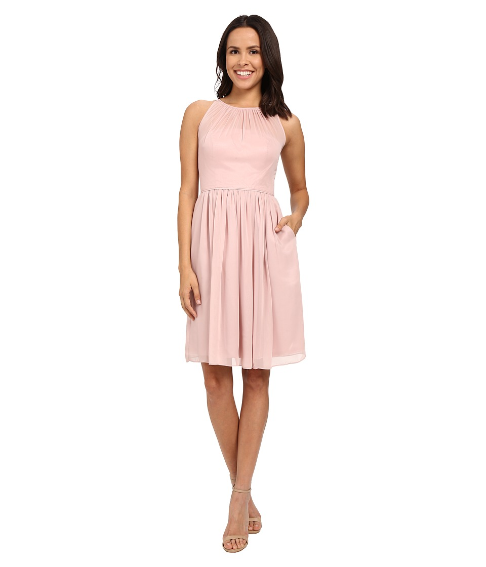 Calvin Klein Fit and Flare Chiffon Dress CD6B1V7C (Petal) Women