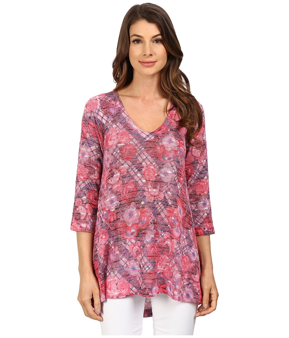 Nally & Millie - Floral Plaid Tunic (Multi) Women's Blouse