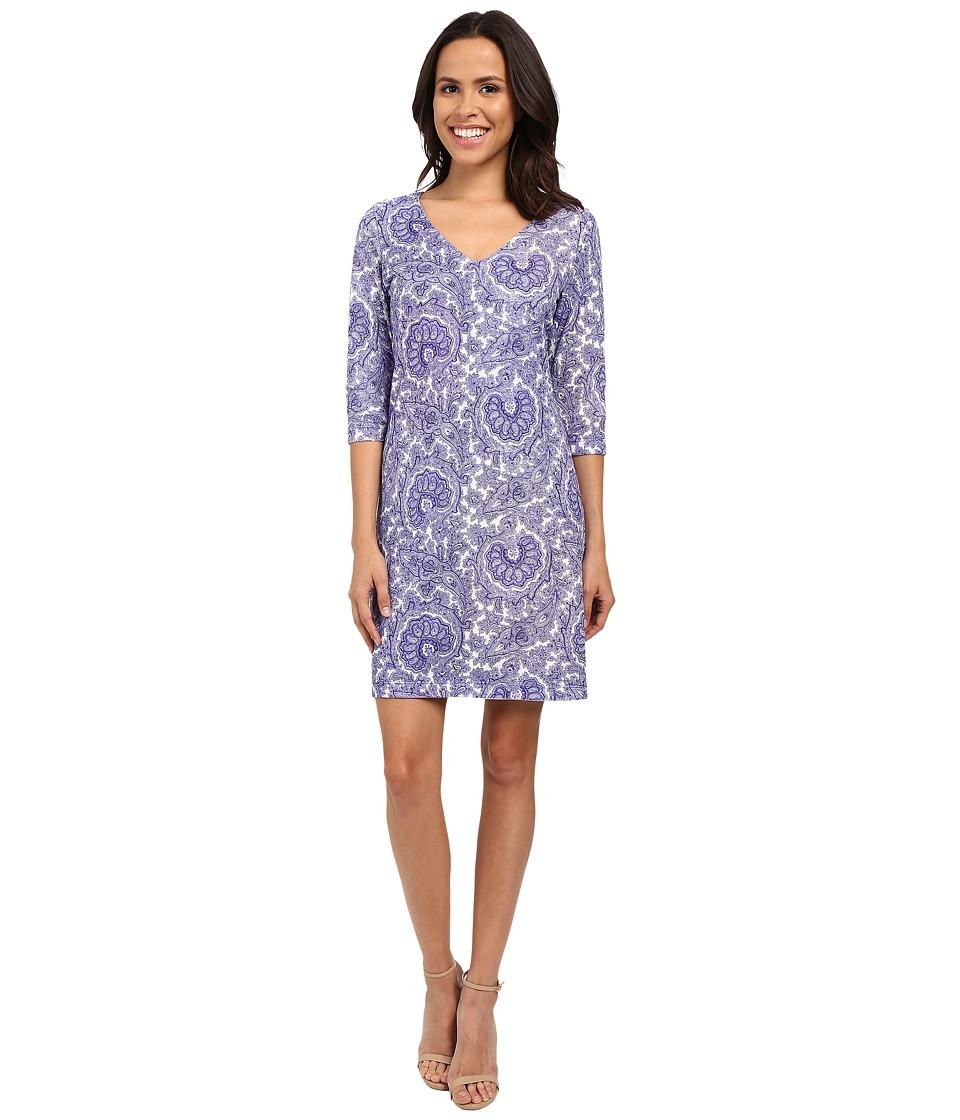 Nally & Millie V-Neck Reversible Printed Dress (Multi) Women
