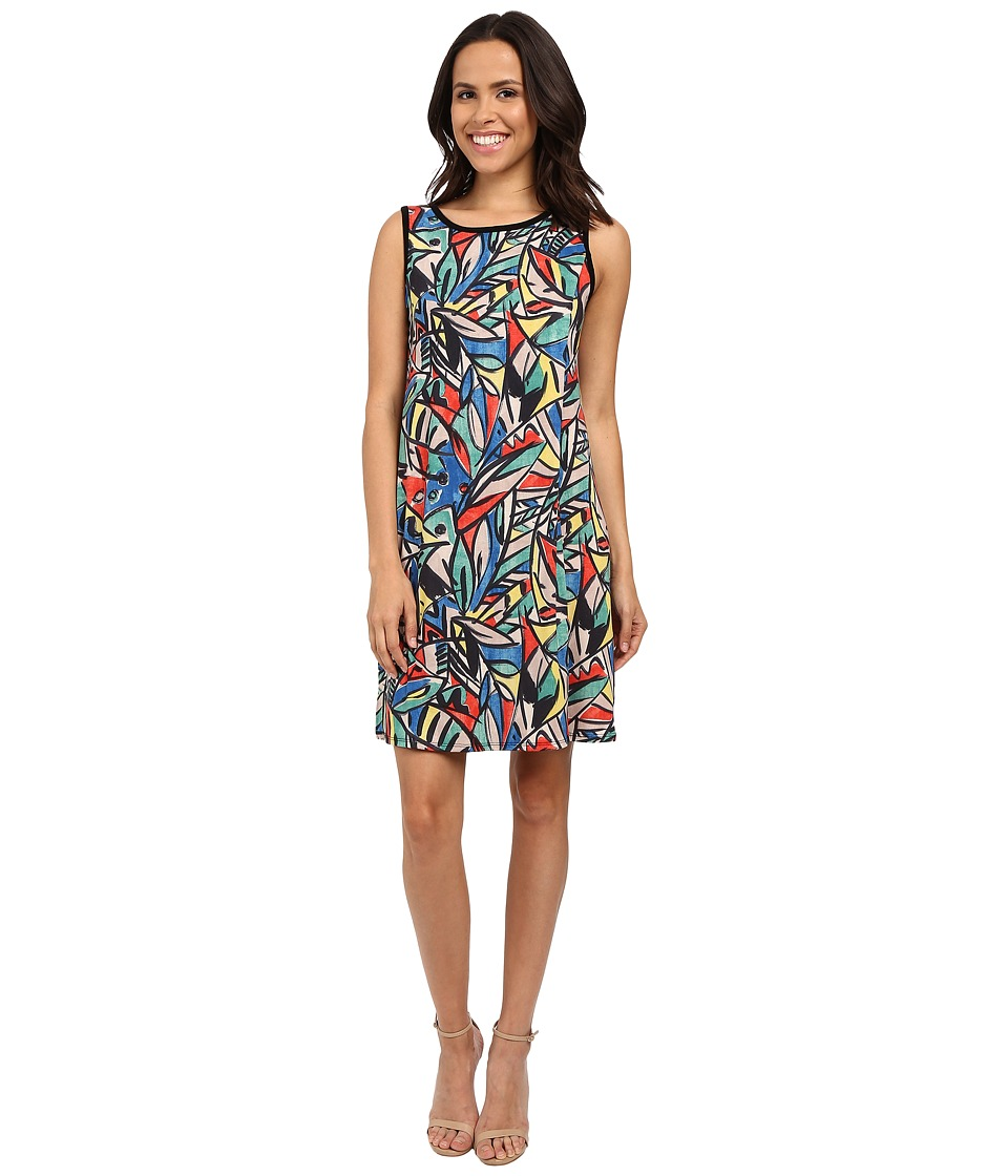 Nally & Millie - Sleeveless Jungle Print Dress (Multi) Women's Dress