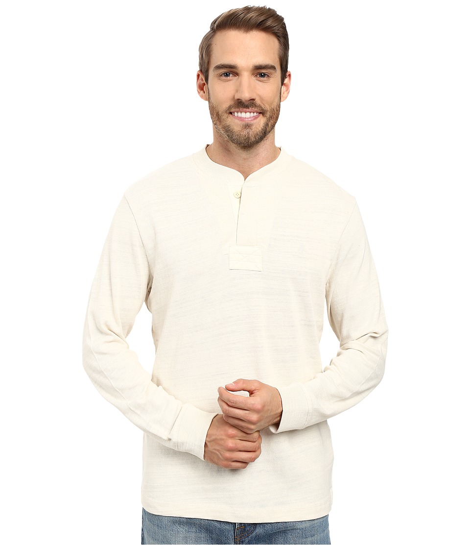 Timberland - Great Brook Slub Henley (Antique White) Men's Long Sleeve Pullover