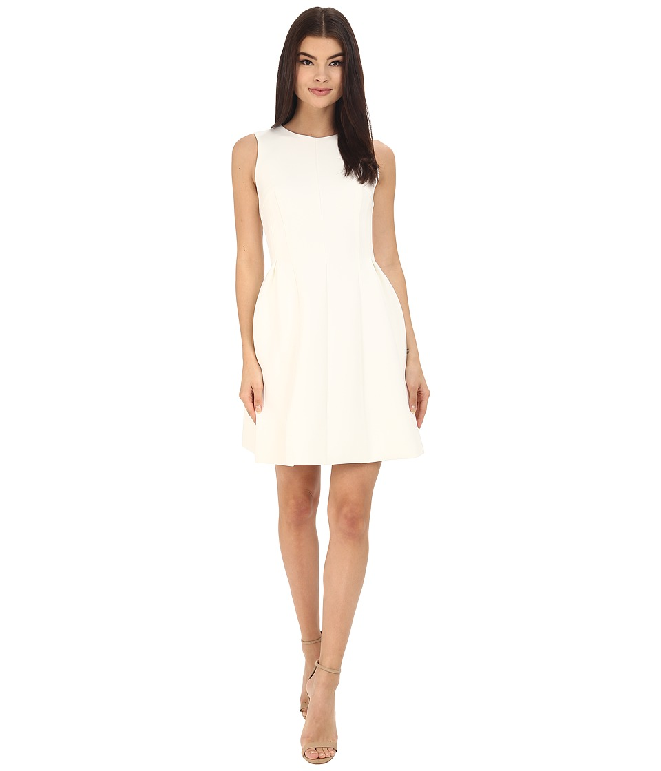 Calvin Klein - Fit and Flare Dress CD6M1110 (Cream) Women's Dress