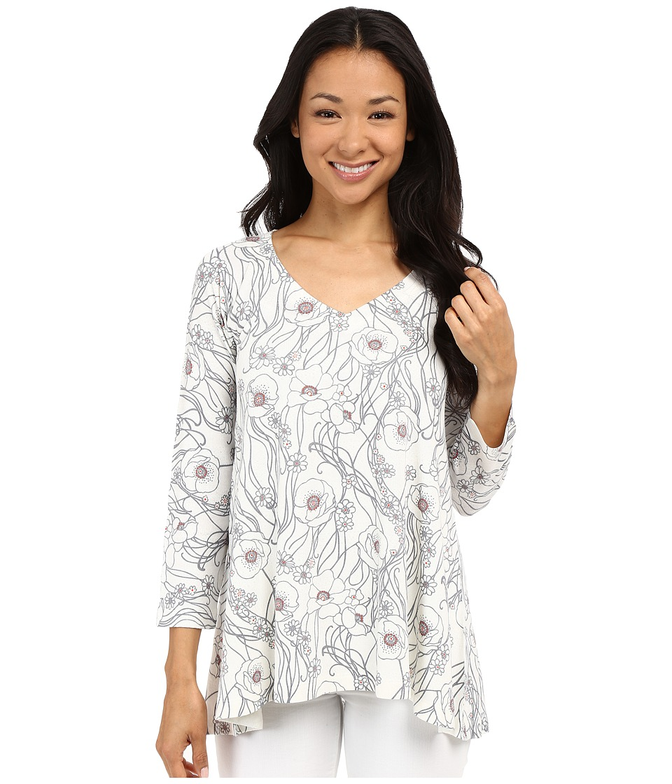 Nally & Millie - Cream Floral Tunic (Multi) Women's Blouse