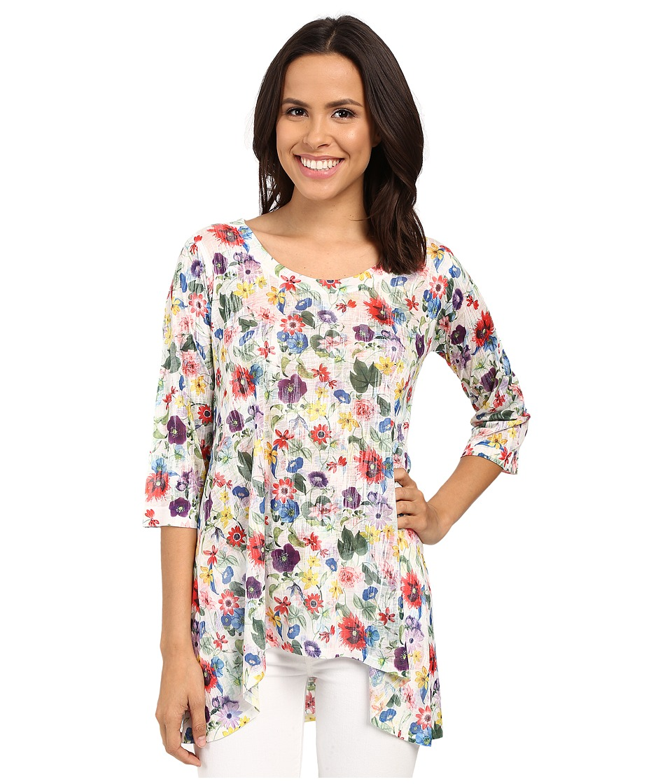 Nally & Millie - Colorful Floral Tunic (Multi) Women's Blouse
