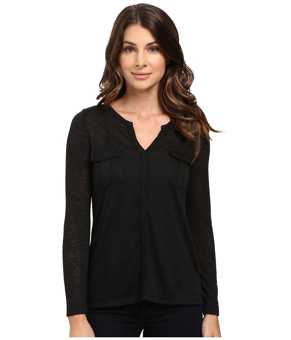 Calvin Klein Jeans - Long Sleeve Rollup with Cargo Pockets (Black) Women's Clothing